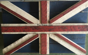 Custom Handcrafted Large Rustic Flags Canadian Flag & Union Jack