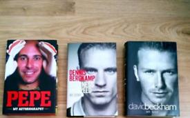 Football biographies - Beckham , Pepe , Bergkamp