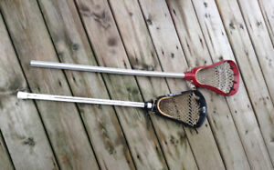 2 Lacrosse Sticks - Youth Size