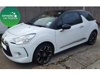 £165.72 PER MONTH WHITE 2013 CITROEN DS3 1.6 DSTYLE PLUS 3 DOOR PETROL MANUAL