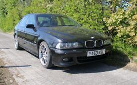 "2001 BMW 535i M Sport Rare V8 Manual Sat Nav Black Leather 18"" wheels"