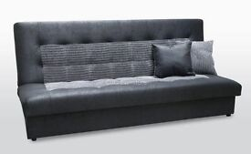 FUTON BED / SOFA BED, STORAGE, FABRIC AND FAUX-LEATHER– BRAND NEW ! !DELIVERY AVAILABLE!