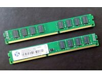 Desktop RAM - 4gb (2 x 2gb) DDR3 PC3-10600 CL9 240 pin 1333Mhz