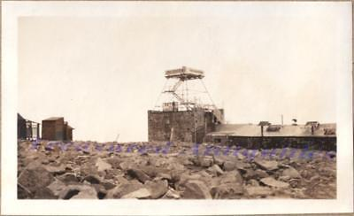 1920s Pikes Peak Colorado Summit House Hotel Lookout Tower Lodge Outhouse Photo