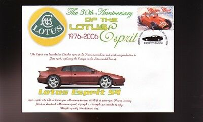 LOTUS ESPRIT 30th ANNIVERSARY COVER, 1991 ESPRIT S4 for sale  Shipping to Canada