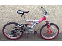 "Bike/Bicycle.GIRLS MALIBU "" AURORA "" MOUNTAIN BIKE. SUIT 6-9 YEARS"