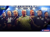 PDC World Championship Darts - Sunday 17th Dec 2017 - 6 Front Table Seats - Best Seats in the Venue