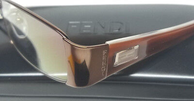 20ac160751a5 FENDI Optical Eyeglasses Frames Glasses Austrian Crystals 52-17-135 Womens  Italy