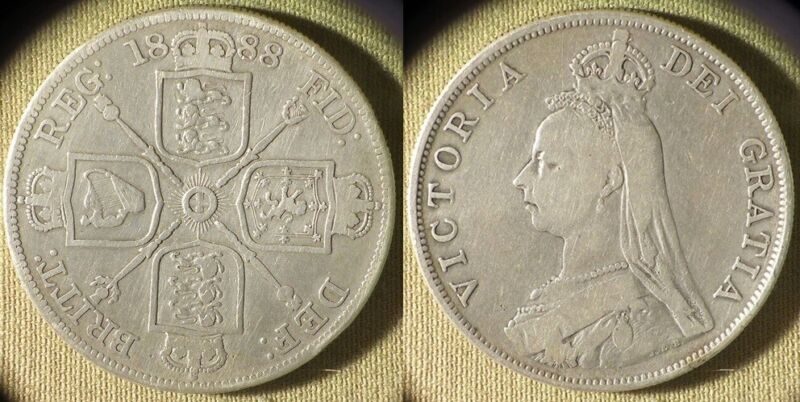 Great Britain : 1888 Double Florin VF #763 IR10311