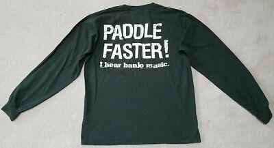 Hear Banjo Music T-shirt (NANTAHALA OUTDOOR CENTER PADDLE FASTER! I HEAR BANJO MUSIC T-Shirt Mens Medium )