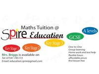 Maths Tuition for KS1, KS2, KS3, GCSE and A'levels by a qualified Maths teacher. First lesson free.