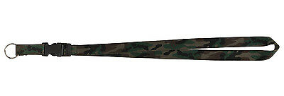 woodland camo neck strap key ring chain id holder neck lanya