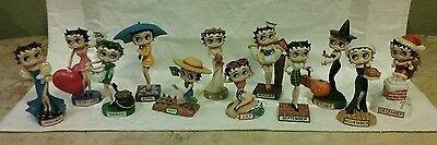 "Betty Boop ""Boopin Through The Year"" Calendar Dolls (12) Danbury Mint"