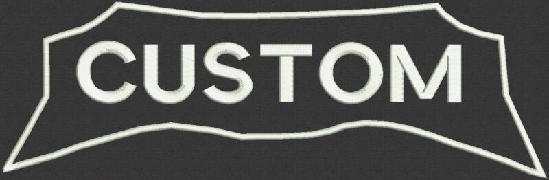 "Top Custom Embroidered Rocker Patch for Biker Motorcycle Badge 12"" - Set B"