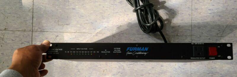 Furman AR-1215 AC Power Conditioner Line Voltage Regulator Power Supply Rack