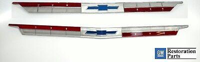 Set 1963 Chevy Emblem Inserts - Impala Bel Air Front Hood & Rear Trunk Ornament