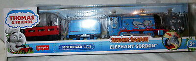 Thomas and Friends Sodor Safari Elephant Gordon TrackMaster Motorized Train NEW!