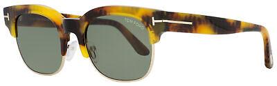 Tom Ford Rectangular Sunglasses TF597 Harry-02 55N Yellow Havana 51mm FT0597
