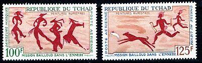 CHAD 1967 SC#'s C38-C39 MH