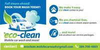 Eco clean mobile car wash