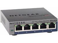 NETGEAR GS105E-200UKS ProSAFE 5 Port Web Managed (Plus) Gigabit Ethernet Switch