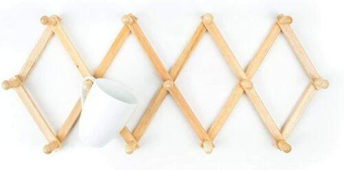 Wooden Clothes Hooks Wall, Beech wood