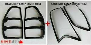 MATTE BLACK HEADLIGHT & TAILLIGHT LAMP COVER FOR FORD RANGER PX MK 1 2 Prestons Liverpool Area Preview