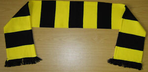 Yellow and Black Bar Scarf