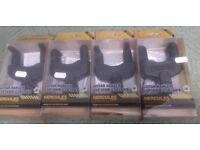 4x Hercules GSP38WB Wall Mountable Guitar Hangers - Wood Base - New