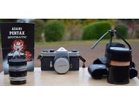 Asahi Pentax Spotmatic + additional Lens