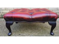 1 x Red, Chesterfield Footstool