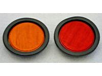 5 INCH 12 LED MARKER LIGHT 24v RED or AMBER SIDE LAMP INDICATOR DRL CUSTOM TRUCK