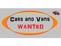 cars or vans wanted