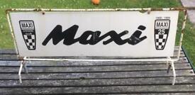 Rare Austin Maxi Owners Club Car Roof Sign