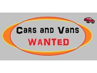 all cars or vans wanted