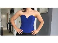 Blue corset style top