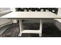 White Gloss Extendable Dining Table 160-190cm FREE DELIVERY 5060