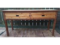 Solid Wood Desk Console Table with Two drawers
