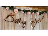FREE. Props for baby shower (Rose Gold)
