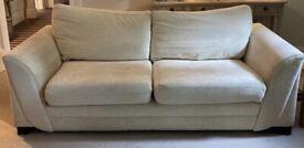 Cream Sofa & Sofa Bed