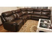 Leather Corner unit plus recliner.