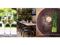 Experienced Waiter - Full time/Part time - Charlotte's Place 2 AA Rosettes - Ealing Common £9 ph