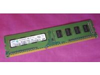 2GB HP Samsung M378B5773DH0-CH9 PC3-10600U 1333MHz DDR3 240-Pin Desktop Memory