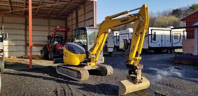 2019 Kobelco Sk55srx-6 Hydraulic Midi Excavator W Cab Super Clean Only 400hrs