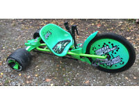 "Huffy Green Machine Kids Drift Bike Trike Go Kart Pedal car, 20"" braked front wheel"