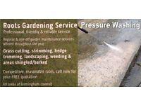 Roots Gardening/Pressure Washing - Reliable, good rates , Free quotes!