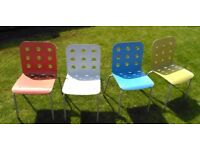 Retro style colour chairs