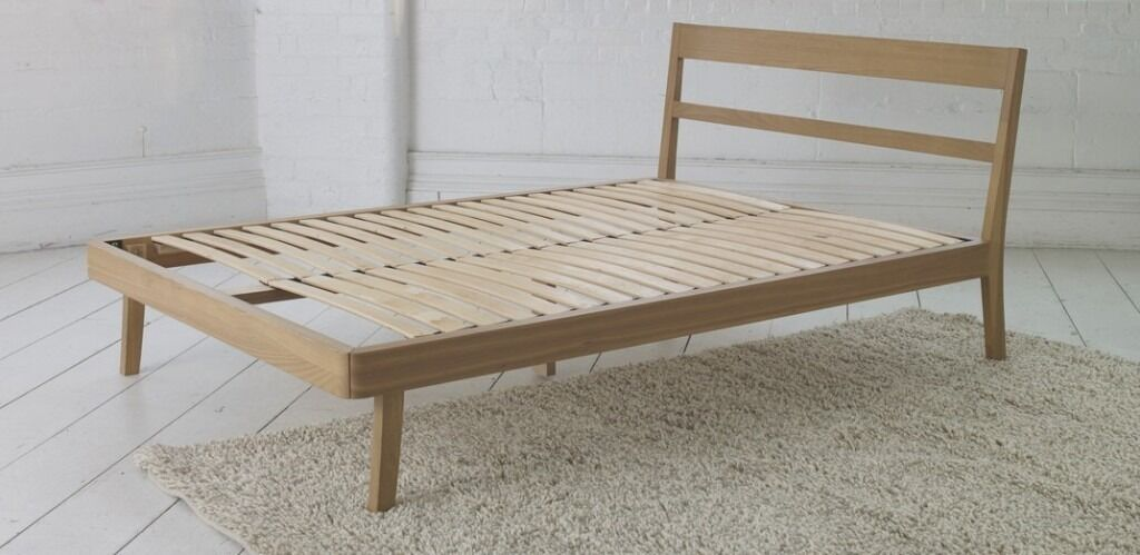 Habitat Tatsuma Double Bed - solid ash wood - excellent condition ...