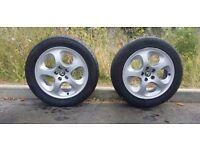 "2 x Genuine Alfa Romeo 147/156 16"" Aluminium Alloy Wheels"