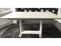 White Gloss Extendable Dining Table 160-190cm FREE DELIVERY 4060